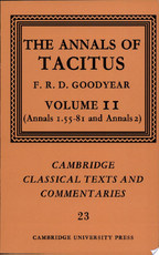 The Annals of Tacitus: Volume 2, Annals 1.55-81 and Annals 2