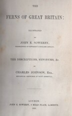 The ferns of Great Britain. The descriptions, synonyms etc. / The fern allies: a supplement to the ferns of Great Britain - John E. Sowerby, Charles Johnson