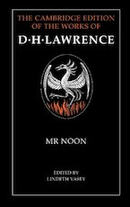 Mr Noon - D. H. Lawrence (ISBN 9780521252515)