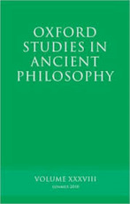 Oxford Studies in Ancient Philosophy - Unknown (ISBN 9780199586806)