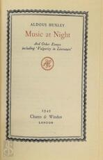 Music at Night - Aldous Huxley