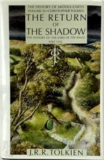 The Return of the Shadow - John Ronald Reuel Tolkien, Christopher Tolkien