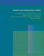 Foundations of Clinical Research: Pearson New International Edition - Leslie Gross Portney, Mary P. Watkins (ISBN 9781292020365)