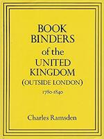 Bookbinders of the United Kingdom (outside London)