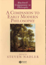 A Companion to Early Modern Philosophy - Steven Nadler (ISBN 9781405140508)