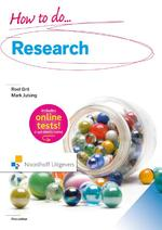 How to do research - Roel Grit, Mark Julsing (ISBN 9789001861230)