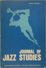 Journal of Jazz Studies - October 1973