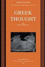 Greek Thought: Greek Thought - Christopher Gill (ISBN 9780199220748)