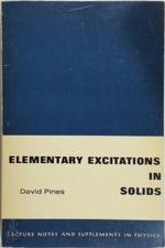 Elementary Excitations In Solids - David Pines