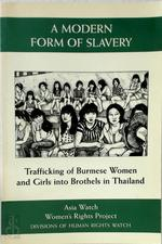 A Modern Form of Slavery - Dorothy Q. Thomas, Asia Watch Committee (U.S.), Women'S Rights Project (Human Rights Watch) (ISBN 9781564321077)