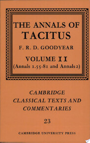 The Annals of Tacitus: Volume 2, Annals 1.55-81 and Annals 2 - Cornelius Tacitus (ISBN 9780521604338)