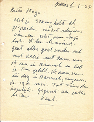 APPEL aan Hugo CLAUS - 8 gesigneerde brieven - APPEL, Karel