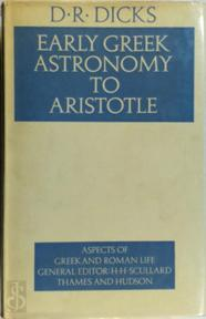 Early Greek Astronomy to Aristotle - D. R. Dicks (ISBN 9780500400135)