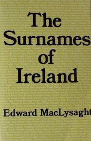 Surnames of Ireland - Edward MacLysaght (ISBN 9780716523666)