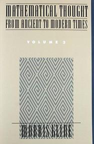 Mathematical Thought from Ancient to Modern Times - Morris Kline (ISBN 9780195061376)