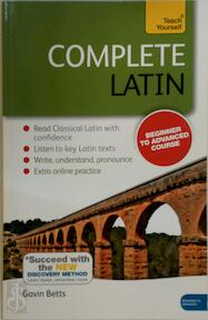 Teach Yourself Complete Latin - Gavin Betts (ISBN 9781444195842)