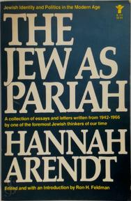 The Jew as Pariah - Hannah Arendt (ISBN 9780394170428)