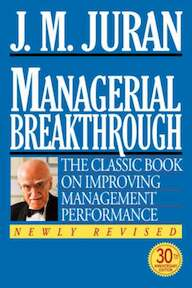 Managerial Breakthrough - Joseph M. Juran (ISBN 9780070340374)