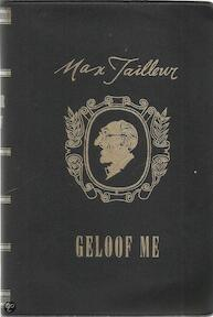 Geloof me - Max Tailleur (ISBN 9789023001614)