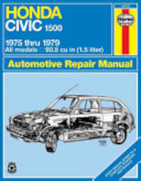 Honda Civic 1500 & CVCC Owners Workshop Manual - John Harold Haynes, P. G. Strasman (ISBN 9780856965869)