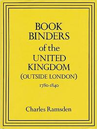 Bookbinders of the United Kingdom (outside London) - Charles Ramsden (ISBN 9780713458848)