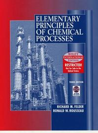 WIE Elementary Principles of Chemical Processes with CD WIE - Richard M. Felder (ISBN 9780471375876)