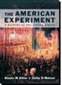 The American Experiment - Steven M. Gillon, Cathy D. Matson (ISBN 9780395677513)
