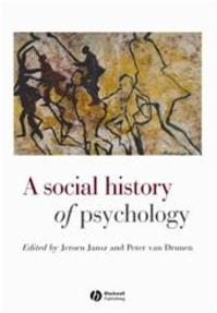 A social history of psychology - Jeroen Jansz, Peter van Drunen (ISBN 9780631215714)