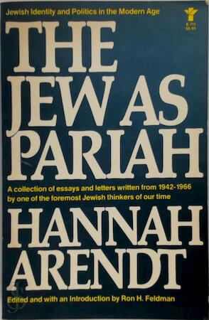 The Jew as Pariah - Hannah Arendt