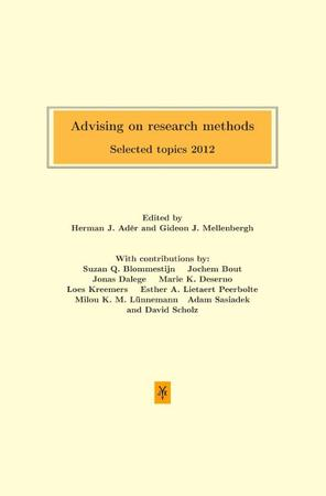 Advising on research methods -