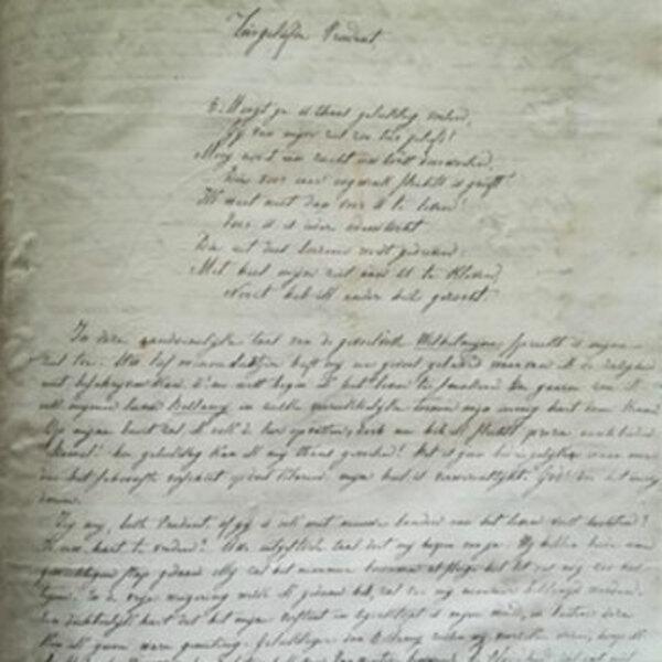 Tranen en trouw, een 19de -eeuwse correspondentie Literatuur: 1ste drukken & bibliofilie