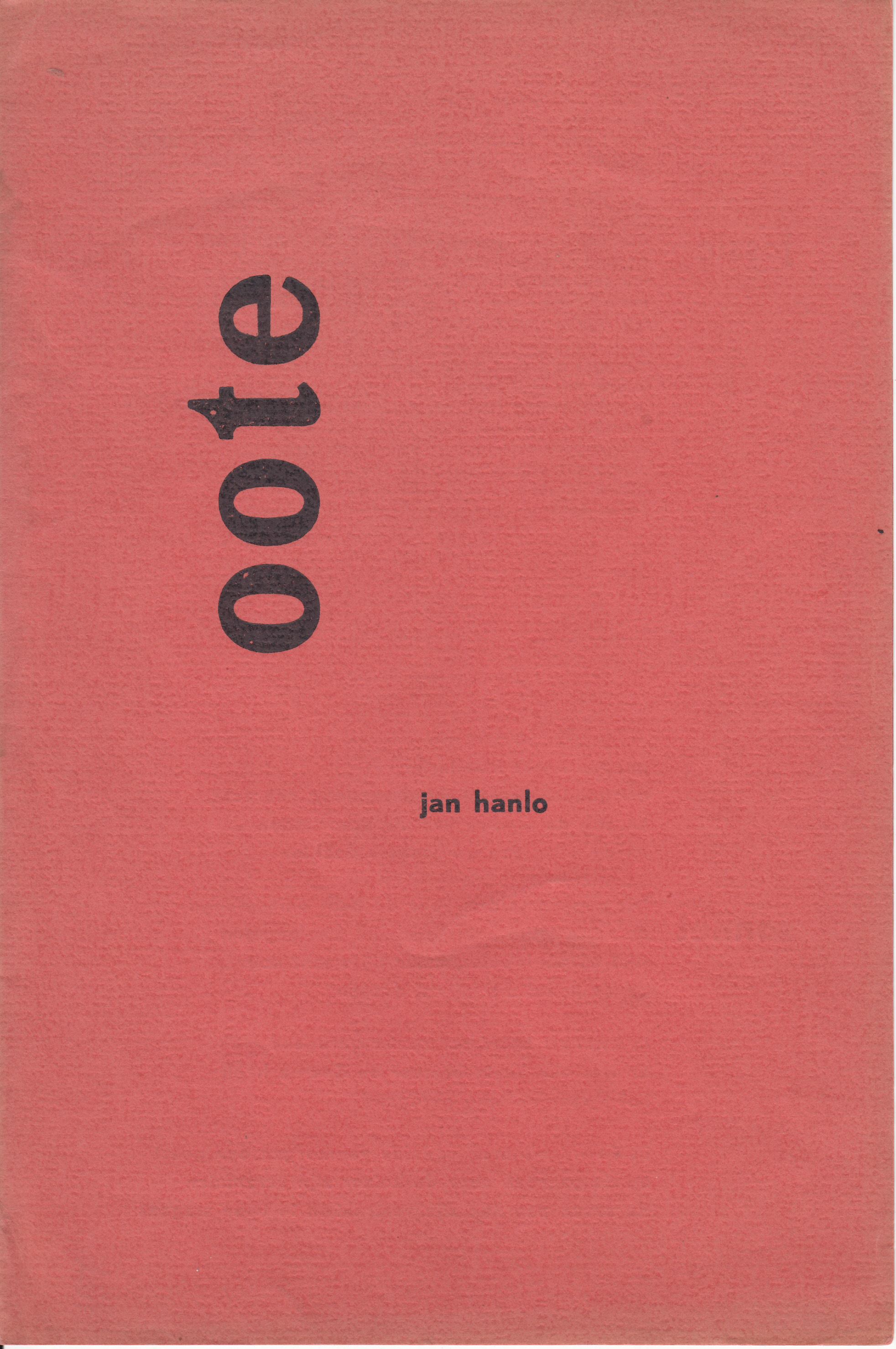 Jan Hanlo - oote