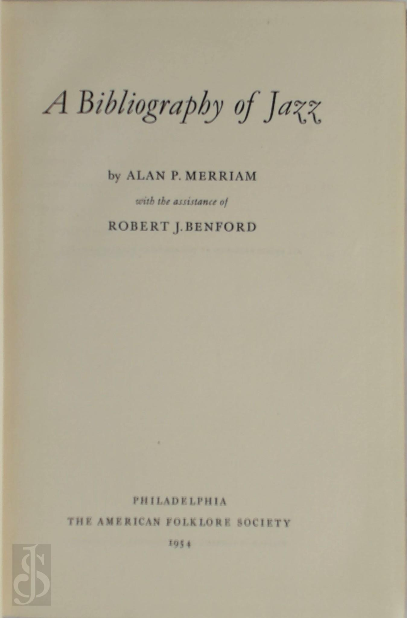 A Bibliography of Jazz