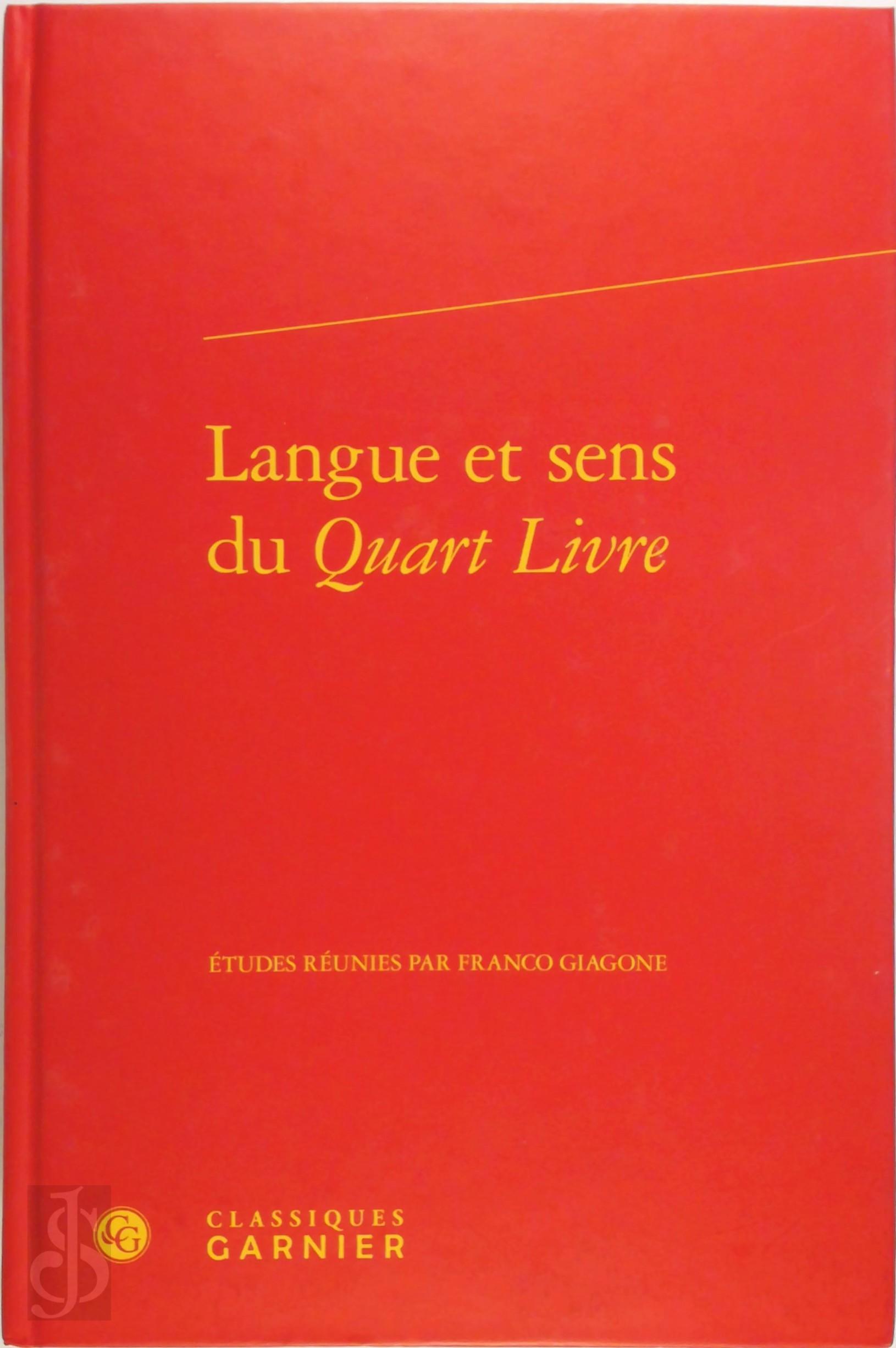 Langue et sens du Quart Liv...