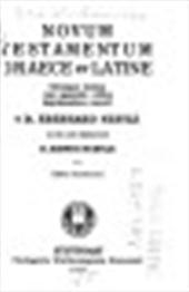 EBERHARD NESTLE, ERWIN NESTLE, KURT ALAND - Novum testamentum Graece et Latine. Utrumque textum cum apparatu critico imprimendum