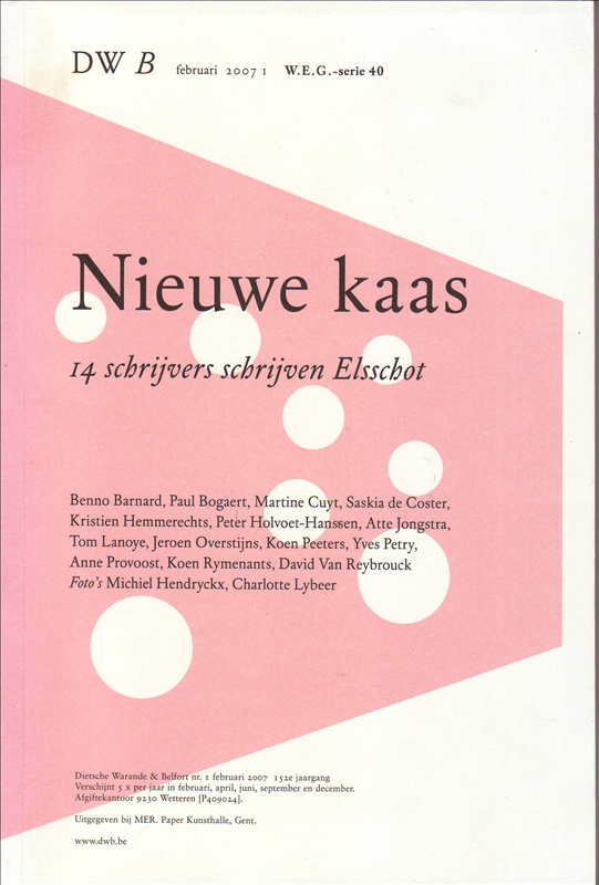 Jeroen Overstijns, Koen Peeters - Nieuwe kaas 14 schrijvers schrijven Elsschot