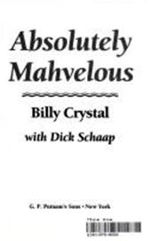 Billy Crystal, Dick Schaap - Absolutely mahvelous [sic]