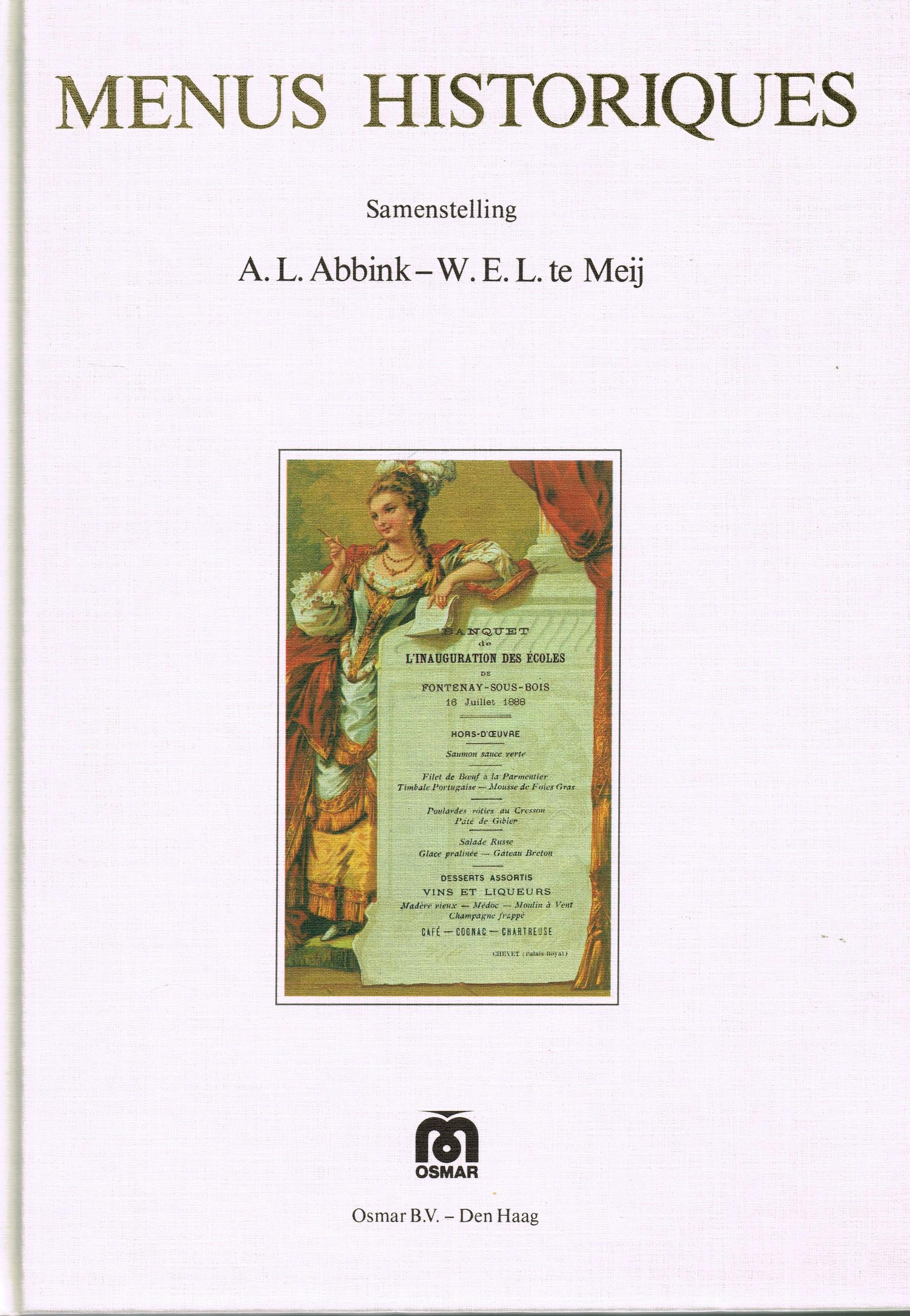 A.L. Abbink - Menus historiques